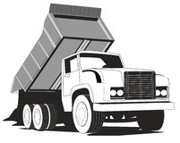 Simple dump truck Royalty Free Stock Images