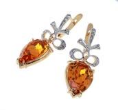 Simple earrings Royalty Free Stock Photo