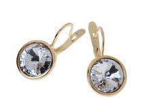 Simple earrings Royalty Free Stock Image