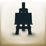 Simple easel. Simple symbolic image of an easel in full-length Stock Photo