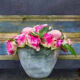 Simple  Easter bouquet with pink roses. Stock Images