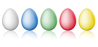 Simple easter eggs Royalty Free Stock Photos