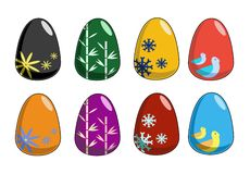 Simple Easter Eggs Stock Photography