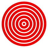 Simple easy to print target mark with bullseye Royalty Free Stock Image