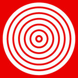 Simple easy to print target mark with bullseye Stock Photography