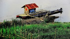 Simple and easy way of living  boathouse Stock Photography