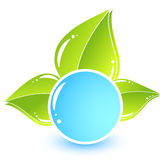 Simple eco icon Stock Image