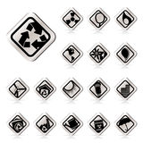 Simple Ecology icons - Set for Web Applications Royalty Free Stock Photos
