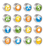 Simple Ecology and Recycling icons Stock Photos