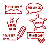 Simple ecommerce stamps Royalty Free Stock Image