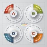 Simple&Editable 4 Steps chart diagrams template. Vector. Stock Photos