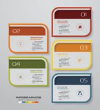 Simple&editable 5 steps process. Infographics element for presentation. EPS 10 Royalty Free Stock Image