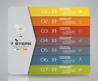 Simple&editable 7 steps process. Infographics element for presentation. EPS 10 Royalty Free Stock Images
