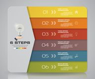 Simple&editable 6 steps process. Infographics element for presentation. EPS 10 Royalty Free Stock Photo