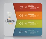Simple&editable 4 steps process. Infographics element for presentation. EPS 10 Stock Photos