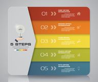 Simple&editable 5 steps process. Infographics element for presentation. EPS 10 Stock Photography