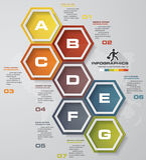 Simple&editable 7 steps process. Simple&Editable abstract design element. Vector. EPS 10 Stock Photos