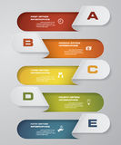 Simple&editable 5 steps process. Simple&Editable abstract design element. Vector. EPS 10 Stock Images