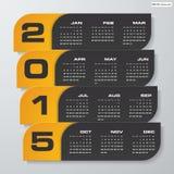Simple editable vector calendar 2015 Royalty Free Stock Image