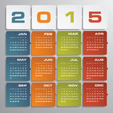 Simple editable vector calendar 2015 Royalty Free Stock Photos