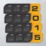 Simple editable vector calendar 2015 Stock Photos