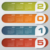Simple editable vector calendar 2015 Royalty Free Stock Images
