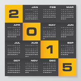Simple editable vector calendar 2015 Stock Images