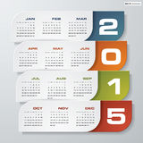 Simple editable vector calendar 2015 Stock Photo
