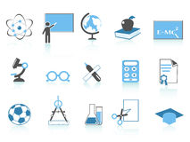 Simple education icon blue series Royalty Free Stock Photo