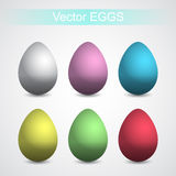 Simple Eggs. Simple colored eggs for your design. Vector illustration. 10 EPS Royalty Free Stock Photo