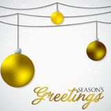Simple, elegant bauble Christmas card Stock Images