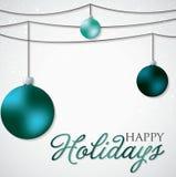 Simple, elegant bauble Christmas card Royalty Free Stock Image