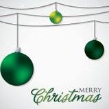Simple, elegant bauble Christmas card Royalty Free Stock Photos