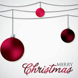 Simple, elegant bauble Christmas card Stock Photography