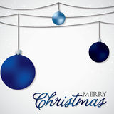 Simple, elegant bauble Christmas card Royalty Free Stock Photography
