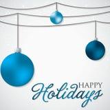 Simple, elegant bauble Christmas card Royalty Free Stock Photo