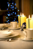 Simple but elegant Christmas table setting Royalty Free Stock Image