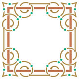 Simple and elegant colorful frame Royalty Free Stock Photography