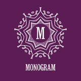 Simple and elegant monogram design template with Royalty Free Stock Images
