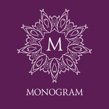 Simple and elegant monogram design template with Stock Images