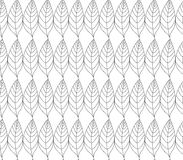 Simple elegant pattern with leaves drawn in thin lines in black. Seamless vector texture for web, print, wallpaper. Simple elegant pattern with leafs drawn in Stock Photo