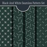 Simple Elegant Seamless pattern Set Stock Photo