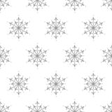 Simple and elegant snowflake seamless pattern - winter paper design Royalty Free Stock Photography