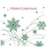 Simple elegant snowflakes background Stock Image