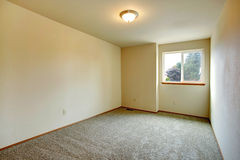 Simple empty room with window Royalty Free Stock Images
