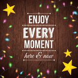 Simple Enjoy Every Moment Concept Royalty Free Stock Photography