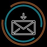 Simple Envelope mail Thin Line Vector Icon royalty free illustration