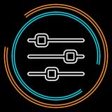 Simple Equalizer Thin Line Vector Icon royalty free illustration