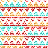 Simple ethnic colorful zig zag triangles seamless pattern, vector royalty free illustration