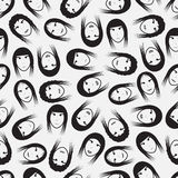 Simple faces pattern eps10. Simple black faces pattern eps10 Stock Illustration